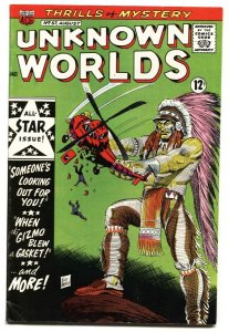 Unknown Worlds #57 1967- ACG Silver Age- FINAL ISSUE VF