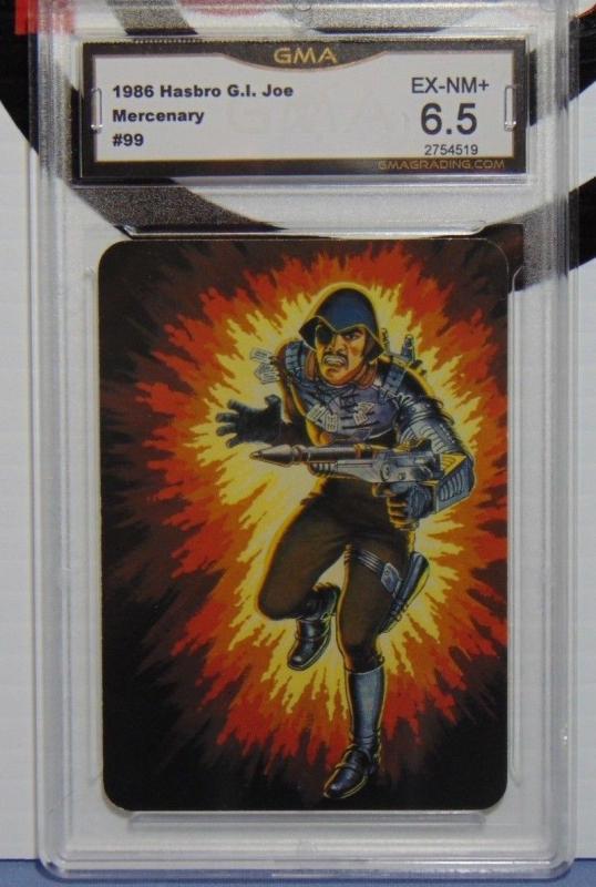 1986 Hasbro G.I. Joe Mercenary Major Bludd Series #1 Card #99 - Graded EX-NM 6.5