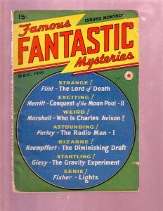 FAMOUS FANTASTIC MYSTERIES #3-DEC 1939 PULP-FINLAY ART VG