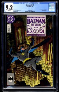 Batman #417 CGC NM- 9.2 White Pages