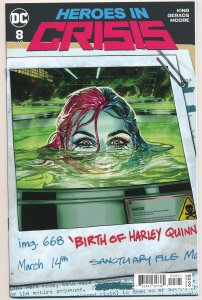 Heroes in Crisis #8, Harley Quinn Birth Cover DC 2019 NM