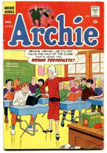 Archie #171 1967-Toothpaste insult-Betty-Veronica-VG