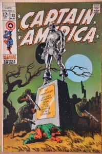 Captain America #113 (1969) Steranko Art!!! High Grade! Key issue! 9.0