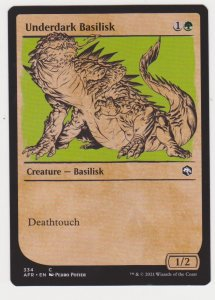 Magic the Gathering: Adventures in the Forgotten Realms- Underdark Basilisk(Show