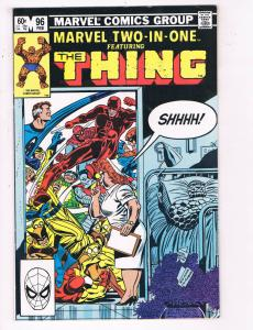 Marvel Two In One #96 VF Marvel Comic Group Comic Book Feb Thing  DE23