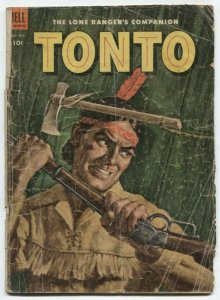 Tonto #12 1953-Dell Western comic- missing centerfold