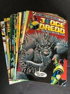 Judge Dredd 18 book lot copper Early Cases Crime Files 2000 ad VF (8.0) (916J)