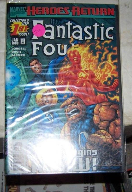 Fantastic Four #1 (Jan 1998, Marvel) HEROES RETURN VS MOLEMAN