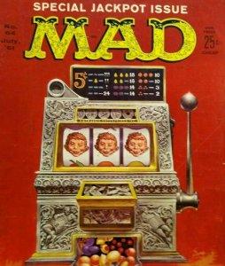 MAD Magazine July 1961 No 64 Jackpot Slot Machine Cover Sneaky Candid Camera