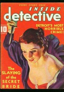INSIDE DETECTIVE DEC 1935-SEGUSO ART-SECRET BRIDE-TRUE CRIME G