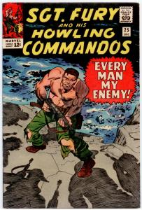 Sgt. Fury #25 VF+ 8.5 Red Skull, cover by Jack Kirby