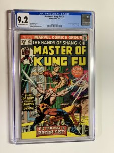 Shang-Chi Master of Kung fu 29 cgc 9.2 ow/w pages First razorfist Marvel 1975