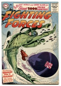 Our Fighting Forces #15 1956- Great torpedo cover- VF-