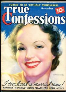 True Confessions Magazine November 1936- Sylvia Sidney- Girl Trap