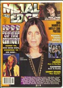 Metal Edge 8/1999-Ozzy Osbourne cover-Alice Cooper-Slaughter-Iron Maiden-VF