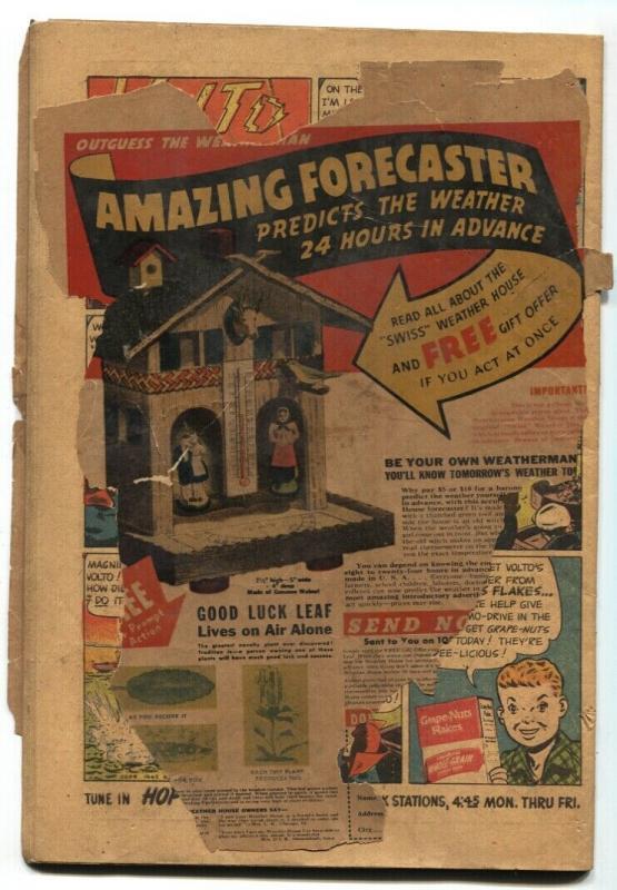 Exciting Comics #42 1945- Black Terror- Nedor Golden Age Schomburg cover PR/FR
