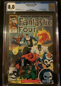 FANTASTIC FOUR 349 CGC 8.0 WHITE PAGES WOLVERINE PUNISHER HULK MARVEL COMICS