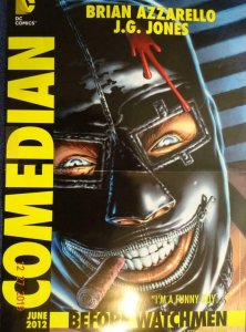 COMEDIAN BEFORE WATCHMEN Promo Poster, 11 x 17, 2012, DC Unused 403