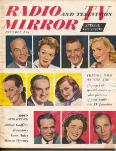 Radio And Television Mirror-Arthur Godfrey-Bing Crosby-Edgar Bergen-Oct-1950