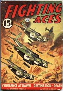 FIGHTING ACES-MAY 1945-DAVID GOODIS-CANADIAN VARIANT-WW II PULP THRILLS-POPULAR