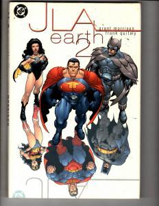 JLA Earth 2 DC Comics Graphic Novel HARDCOVER Comic Book Batman Superman MF5