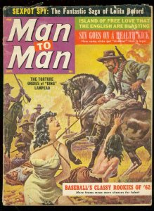 MAN TO MAN MAGAZINE SEPT 1962-TORTURE ORGIES-WILD COVER G/VG