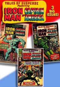TALES OF SUSPENSE #77, 78, 81 (1965) GD/VG  3 Issues of Iron Man, Cap & Kirby!