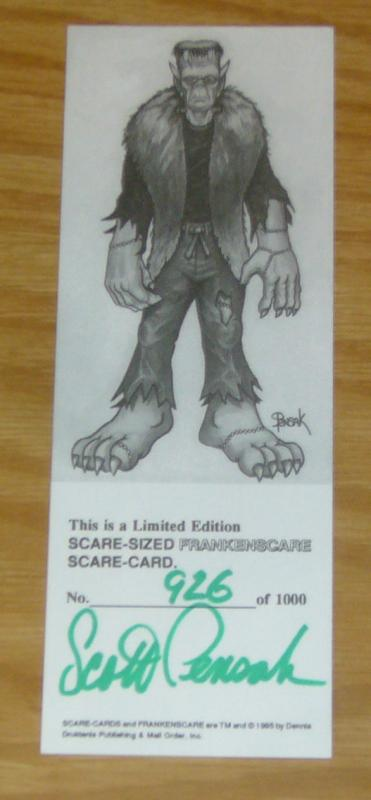 Limited Edition Scare-Sized FRANKENSCARE Scare-Card - signed/numbered (926/1000)