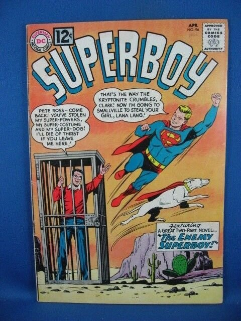 Superboy #96 (Apr 1962, DC) VG F