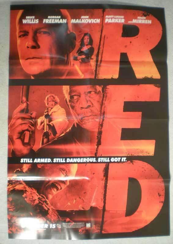 RED Promo Poster, Bruce Willis, Movie, 27x40, 2010, Unused, more Promos in store