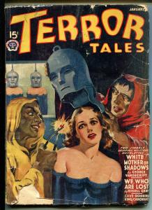 Terror Tales 1/1941-woman in Iron Mask-weird menace pulp-Hugh B Cave-G