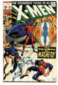 X-MEN #63-MAGNETO cover--HIGH GRADE-Marvel 12 cent