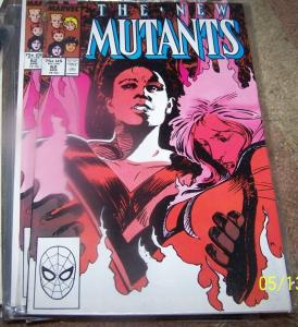 NEW MUTANTS # 62 1988  marvel   XMEN empath +hellions  MAGMA LEAVES