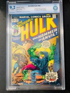 Hulk, (The Incredible) 182 - From the PA Dutch Collection - CBCS 9.2 NM-
