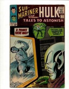 Tales To Astonish # 72 FN Marvel Comic Book Giant Man & Incredible Hulk BJ1