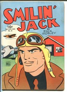 SMIILIN' JACK FOUR COLOR #36 1944-ZACK MOSLEY-PORTRAIT COVER-fn/vf