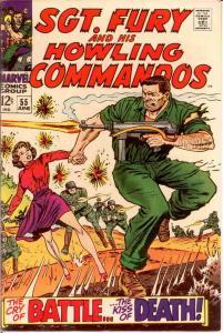 SERGEANT FURY 55 VF-NM SEVERIN!HOWLERS P.O.W.! COMICS BOOK