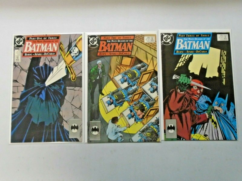 The Many Deaths of the Batman #1-3 Average 8.0 VF (1989)