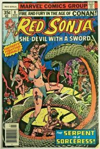 RED SONJA#8 FN/VF 1978 MARVEL BRONZE AGE COMICS