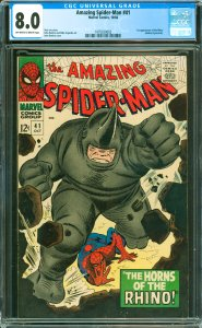 Amazing Spider-Man #41 CGC Graded 8.0 1st appearance of the Rhino (Aleksei Sy...