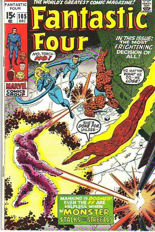 Fantastic Four #105 (Dec-70) FN/VF+ Mid-High-Grade Fantastic Four, Mr. Fantas...