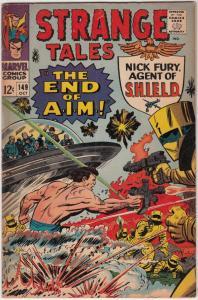 Strange Tales #149 (Oct-66) FN- Mid-Grade Nick Fury, Dr. Strange