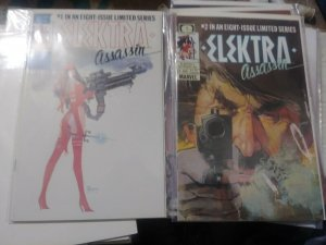 ELEKTRA ASSASSIN # 1,2 1986 MARVEL EPIC, FRANK MILLER+ Bill Sienkiewicz.