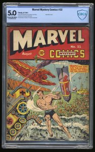 Marvel Mystery Comics #22 CBCS VG/FN 5.0 Cream To Off White Timely