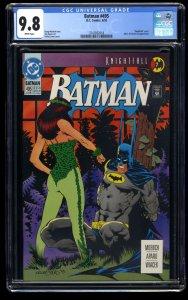 Batman #495 CGC NM/M 9.8 White Pages Knightfall Part 7