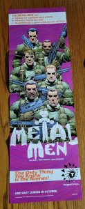 11x34 Tangent Comics Metal Men Promo Poster 8023F 1997 NEW NO PIN HOLES!