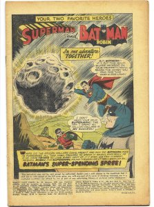 COVERLESS: World's Finest Comics 99 DC 1959 Batman Superman Robin Jack Kirby art