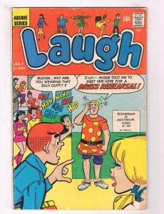 Laugh #244 VG 1st Print Archie Series Comic Book Jughead Betty Veronica DE4