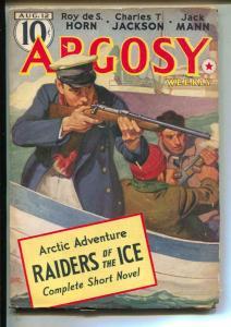 Argosy Pulp 8/12/39- RAIDERS OF THE ICE -Roy de S. Horn- low grade