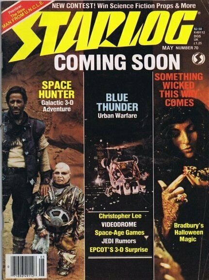 ORIGINAL Vintage May 1983 Starlog Magazine #70 Space Hunter Blue Thunder